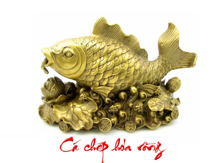 Những người thường xuyên chơi cờ bạc muốn tăng may mắn cho mình nên đặt một bức tượng cá chép hóa rồng trong phòng
